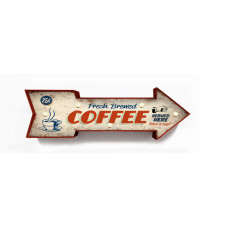 Boxed Coffee Arrow Sign