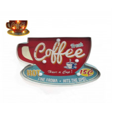 Boxed Coffee Cup Sign