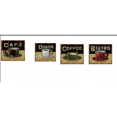 Coffee Signs (4pc wooden signs)