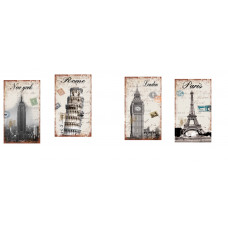 4pc Vacation Wooden Signs